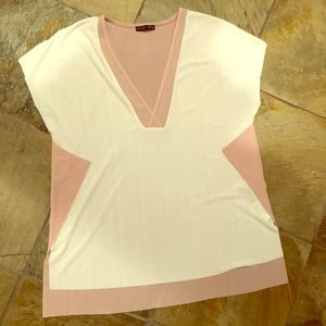 Zara pink / white shirt. For dress up or casual!